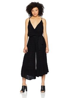 Michael Stars Women's Plisse Wide Leg Cropped Jumpsuit  Extra Small