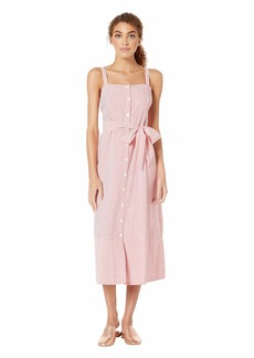 Michael Stars Women's Raina Stripe Button Front Dress
