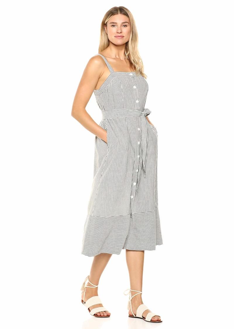 Michael Stars Women's Raina Stripe Button Front Dress  Extra Small