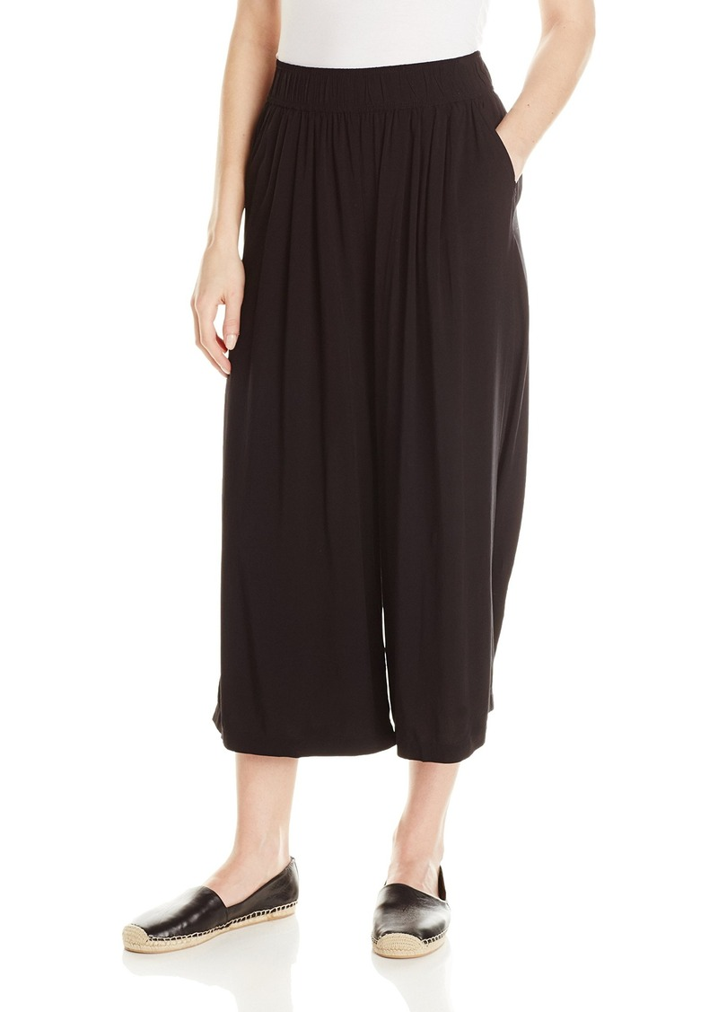 Michael Stars Women's Rayon Culotte Pants with Elastic Waist