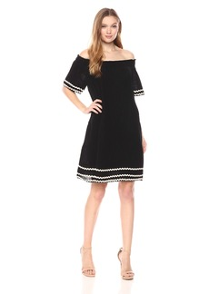 Michael Stars Women's RIC Rac Double Gauze Off-The-Shoulder Dress  XS