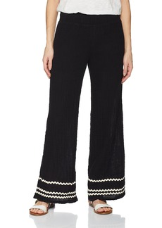 Michael Stars Women's Ric Rac Double Gauze Smocked Wide Leg Pant  XS