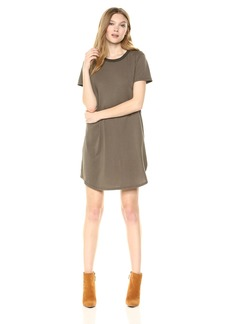 Michael Stars Women's Ringer tee Dress camo L