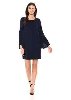Michael Stars Women's Rylie Rayon Cascading Sleeve Dress  M