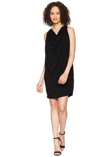 Michael Stars Women's Rylie Rayon Draped Halter Dress  L