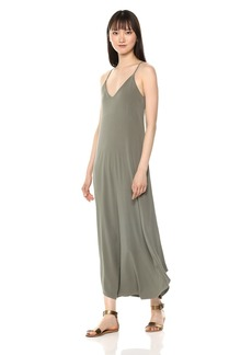 Michael Stars Women's Rylie Rayon Front-to-Back Maxi Dress camo