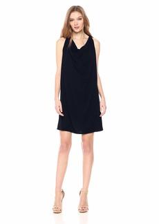 Michael Stars Women's Rylie Rayon Short Sleeve v-Neck hi-lo Dress  L