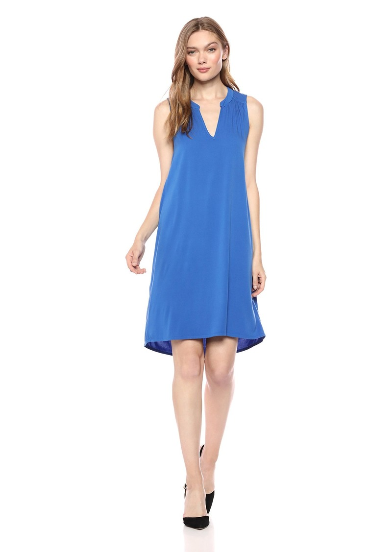 Michael Stars Women's Rylie Rayon Sleeveless v-Neck Dress  S