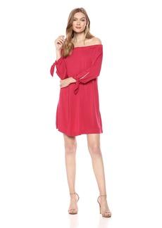 Michael Stars Women's Rylie Rayon tie Sleeve Dress  S