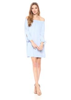 Michael Stars Women's Rylie Rayon tie Sleeve Dress sea Breeze S