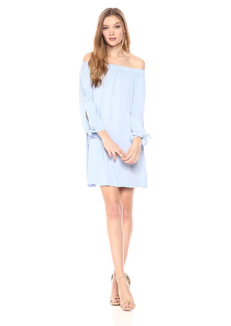 Michael Stars Women's Rylie Rayon tie Sleeve Dress sea Breeze M