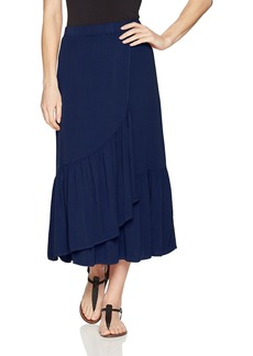 Michael Stars Women's Rylie Rayon Wrapped midi Skirt  S
