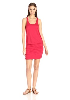 Michael Stars Women's Scoop Neck Racerback Dress with Shirring  L