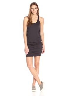 Michael Stars Women's Scoop Neck Racerback Dress with Shirring  M