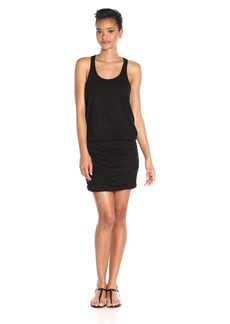 Michael Stars Women's Scoop Neck Shirred Racerback Dress