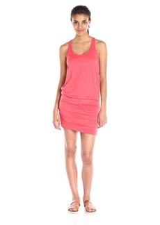 Michael Stars Women's Scoop-Neck Shirred Racerback Dress