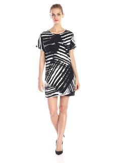 Michael Stars Women's Scratch Print Easy Short Sleeve Dress