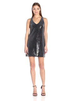 Michael Stars Women's Sequin Sleeveless V Neck Dress  L