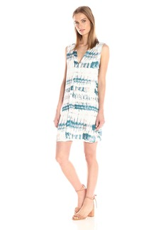 Michael Stars Women's Shibori Print Pleat Front Dress  XS