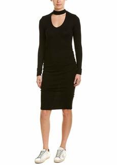 Michael Stars Women's Shine Long Sleeve V-Neck Choker Dress  S