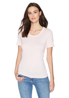 Michael Stars Women's Shine Short Sleeve Scoop Neck Tee