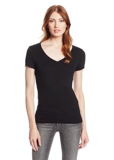 Michael Stars Women's Shine Short Sleeve V-Neck