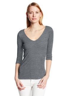 Michael Stars Women's Shine T-Shirt with Three-Quarter Sleeves  O/S