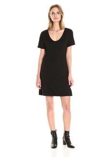 Michael Stars Women's Short Sleeve Dress with Back Detail  L