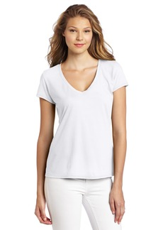 Michael Stars Women's Short Sleeve Fitted V-Neck Shirt