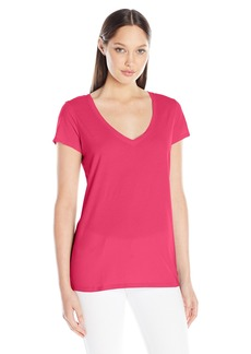 Michael Stars Women's Short Sleeve Vee Neck