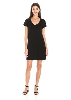 Michael Stars Women's Short Sleeve Vee Neck Dress with Pocket  XS