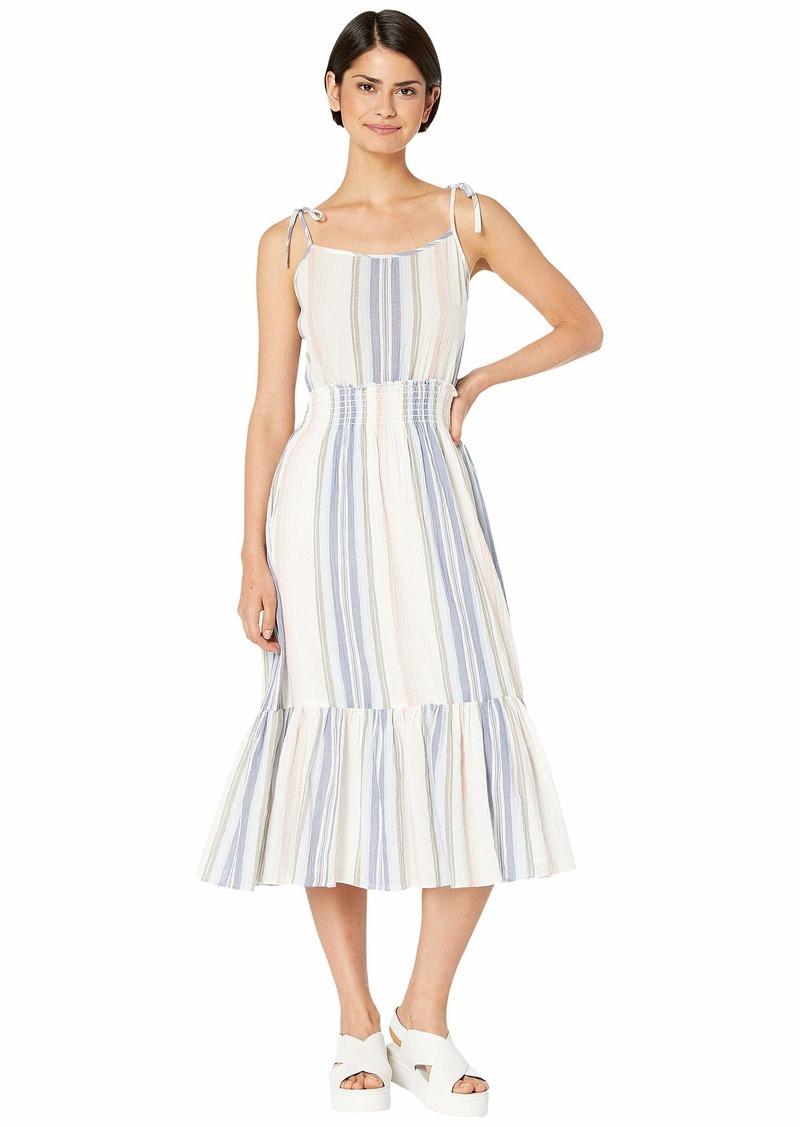 Michael Stars Women's Sia Prairie Stripe Sleeveless Dress with Tie Straps
