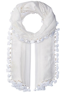 Michael Stars Women's Silky Solid Scarf white one size
