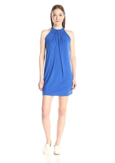 Michael Stars Women's Sleeveless Draped Halter Dress