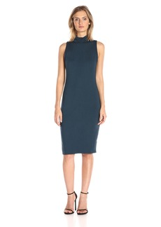 Michael Stars Women's Sleeveless Mock Neck Midi Dress  L
