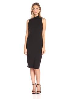 Michael Stars Women's Sleeveless Mock Neck Midi Dress  XS