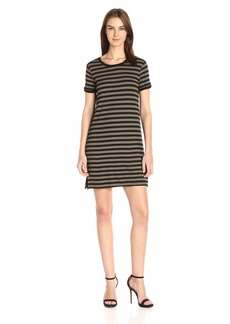 Michael Stars Women's Sophie Stripe Crew Neck Tee Dress  M