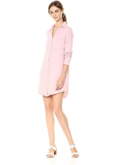 Michael Stars Women's Sun Wash Double Gauze Long Sleeve Shirt Dress  M