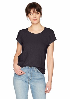 Michael Stars Women's Supima Cotton slub Crew Neck tee