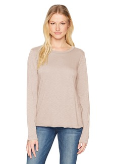 Michael Stars Women's Supima Cotton Slub Long Sleeve Crew Neck Tee