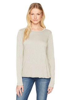 Michael Stars Women's Supima Cotton Slub Long Sleeve Crew Neck Tee  O/S