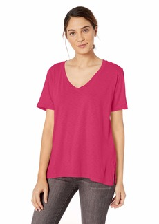 Michael Stars Women's Supima Cotton Slub Short Sleeve V-Neck Tee