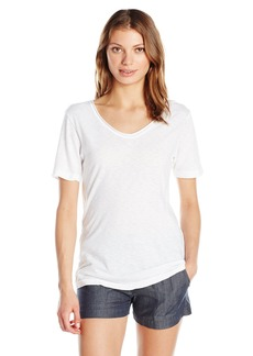 Michael Stars Women's Supima Cotton Slub Short Sleeve Raw Edge