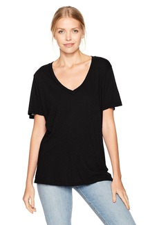 Michael Stars Women's Supima Cotton Slub V-Neck  One Size