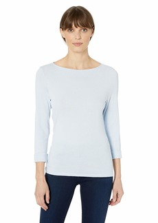 Michael Stars Women's Supima Kailee Long Sleeve Boat Neck tee