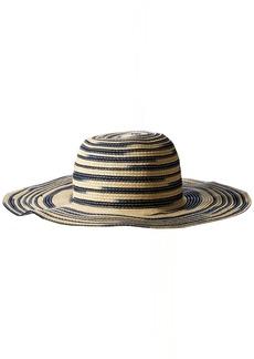 Michael Stars Women's Swirl Striped Floppy Hat