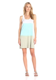 Michael Stars Women's Tank Mini Dress with Dip Dye