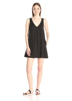 Michael Stars Women's Tencel V Neck Tank Dress with Pockets