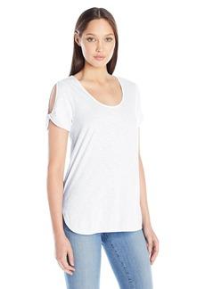 Michael Stars Women's Twisted Slit-Sleeve T-Shirt