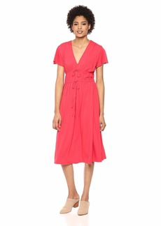 Michael Stars Women's Ultra Jersey Dhalia tie Front Dress
